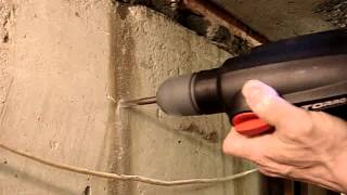 04. Skil Torro - сверление бетон фундаментный блок