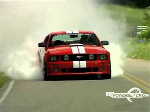 myPowerBlock: Roush Mustang burnout