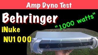 Video Behringer iNuke NU1000 Amp Dyno Test MP3, 3GP, MP4, WEBM, AVI, FLV Desember 2018