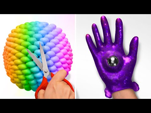 EASY AND COOL ARTWORK HACKS    24 Satisfying Ideas with Slime