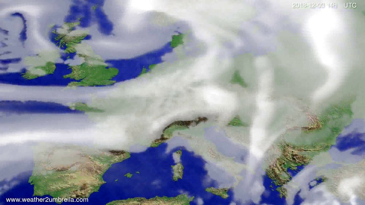 Cloud forecast Europe 2018-11-29