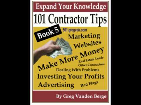 Contractor Tips Book – Money Making Ideas
