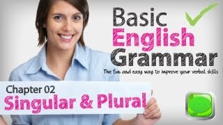 Basic English Grammar  02 -- Singular&plural nouns | English lesson | ESL | Spoken English