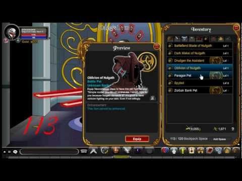 AQWorlds - Dark Caster X Shop(Rare) and DonSword's Character Unleashed(Old)