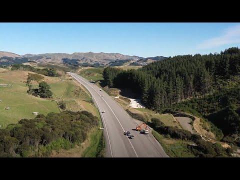 Transmission Gully motorway flythrough – May 2021