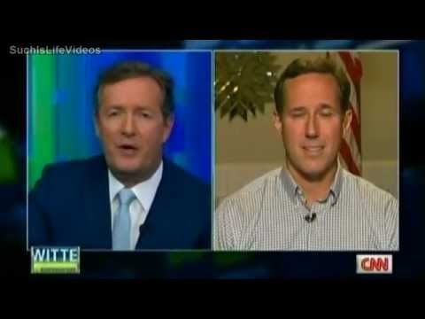 santorum - Piers Morgan talks to Santorum about his anti-gay views.