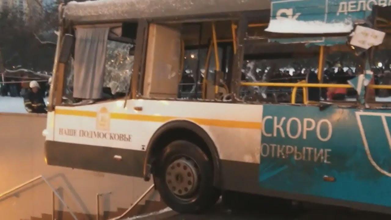 Τουλάχιστον πέντε νεκροί από λεωφορείο που έπεσε σε υπόγεια διάβαση πεζών στην Μόσχα