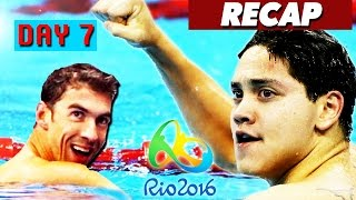 Rio Olympics 2016 highlights, best moments, gold medals, & Joseph Schooling! Day 7 of the Rio Olympics 2016 has finished, so I am again simplifying the hours upon hours of sports shown on TV today to a short video featuring the highlights, gold medal winners, and world records broken, if any.This is a video for the Rio Olympics on August 12, 2016, and I'll be doing a new compilation video every day until the Olympics are over on August 21st. Make sure to subscribe to Culture Vulture for more videos:https://www.youtube.com/c/culturevultureHighlights:Joseph Schooling defeats his idol, Michael Phelps, in men's 50 m freestyle to win a gold medalKatie Ledecky breaks a world record and wins her 4th gold medal for Rio 2016 so far, she finishes the 800 m freestyle race a full 11 seconds before the silver medal winnerAnthony Ervin wins another gold medal after 16 yearsGold medal winners:Ku Bonchan of South Korea wins Gold in men's archeryAlmaz Ayana of Ethiopia wins Gold in women's 10,000 m runningWang Zhen of China wins Gold in men's 20 km walkChina wins Gold in women's team sprint cyclingGreat Britain wins Gold in men's team pursuit cyclingGermany wins Gold in equestrian dressage team grand prixEmilie Andeol of France wins Gold in women's +78 kg judoTeddy Riner of France wins Gold in men's +100 kg judoIlse Paulis & Maaike Head of Netherlands win Gold in women's double scullsPierre Houin & Jeremie Azou of France win Gold in men's double scullsHelen Glover & Heather Stanning of Great Britain win Gold in women's pair rowingGreat Britain wins Gold in men's four rowingHenri Jungnaehel of Germany wins Gold in men's 50 m rifle proneDiana Bacosi of Italy wins Gold in women's skeet shootingRosannagh Maclennan of Canada wins Gold in women's trampoline gymnasticsRussian Federation wins Gold in men's foil team fencingMarc Lopez & Rafael Nadal of Spain win Gold in men's tennis doublesRim Jong Sim of North Korea wins Gold in women's 75 kg weightliftingKianoush Rostami of Iran wins Gold 