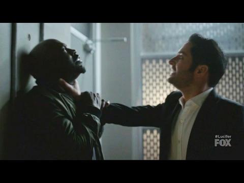 Lucifer 2x13 Lucifer Amenadiel Fight Chloe Interrupts Them  Season 2 Episode 13