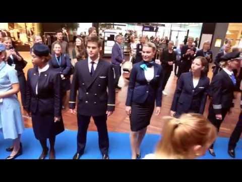SAS uniform catwalk at Copenhagen Airport