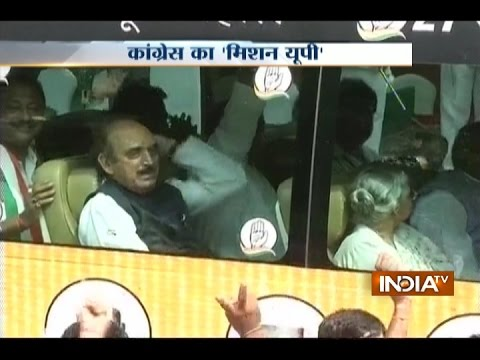 Sonia Gandhi flags-off the bus, kick-starts Congress 'Mission UP'