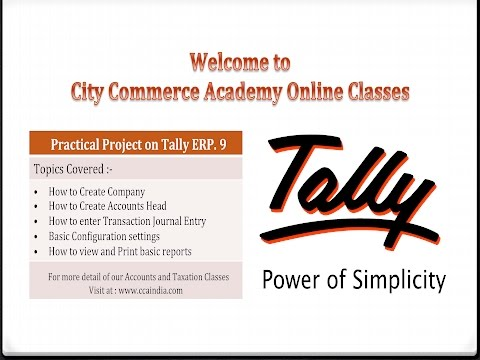 Tally ERP 9 Full tutorial  with practical Project & practice Material