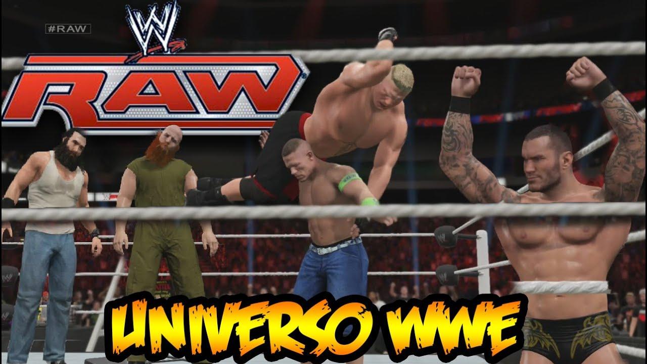 Ver WWE 2K15 – Universo – Luchas Épicas en Raw – Brutal combate entre Brock Lesnar y John Cena en Español Online
