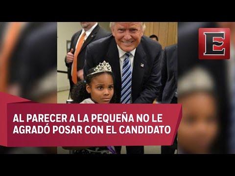 La inusual reacción de esta niña al conocer a Trump