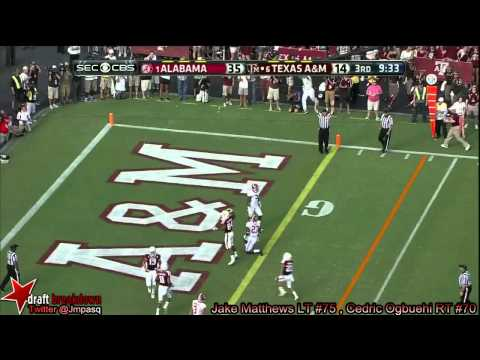 Germain Ifedi vs Alabama 2013 video.