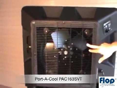Schładzacz powietrza ewaporacyjny - klimatyzer - BryzaCOOL z 40 centymetrowym zbiornikiem pionowym