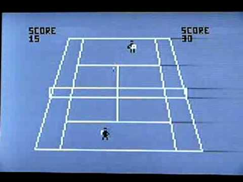 Tennis on vintage Tandy Radio Shack TRS 80 Color Computer (CoCo). Gameplay & Commentary