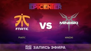 Fnatic vs Mineski, EPICENTER SEA Quals, game 2 [Jam, LightOfHeaveN]