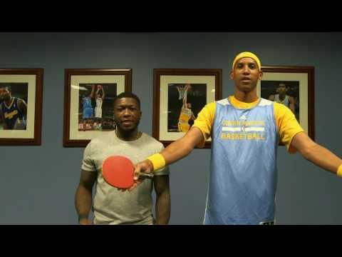 Reggie Miller Challenges Nate Robinson to a Game of Ping-Pong on NBA Inside Stuff