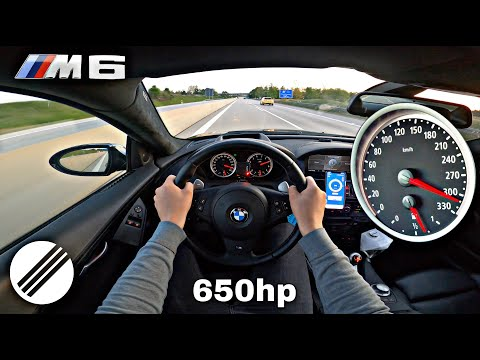 BMW M6 V10 SUPERCHARGED INFINITAS TOP SPEED DRIVE ON GERMAN AUTOBAHN 🏎