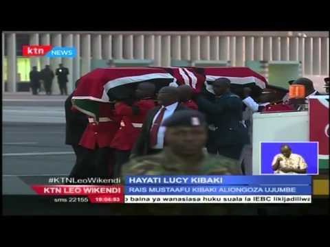 Mwili wa Hayati Lucy Kibaki yawasili Nchini nakupokewa na Rais Uhuru