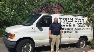 Chris Cunha, Owner of the Twin City Lock & Key, Fitchburg MA, Wiscasset ME