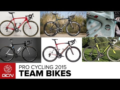 the pro - Here are all the bikes that the pro peloton will be racing on in 2015. Subscribe to GCN for more pro bikes: http://gcn.eu/SubscribeToGCN There have been a fair few equipment changes for the...