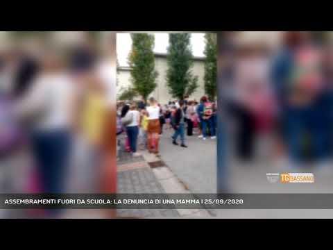 ASSEMBRAMENTI FUORI DA SCUOLA: LA DENUNCIA DI UNA MAMMA   25/09/2020