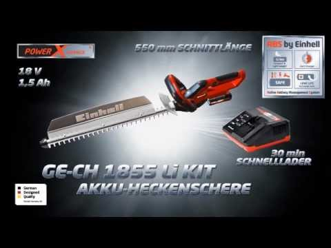 Einhell Akku-Heckenschere GE-CH 1855 Li Kit 18 V
