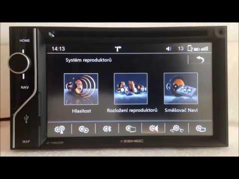 Zenec Z-N626 – Základní představení navigace