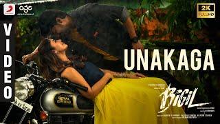 Bigil - Unakaga Official Lyric Video | Thalapathy Vijay, Nayanthara | A.R Rahman | Atlee | AGS