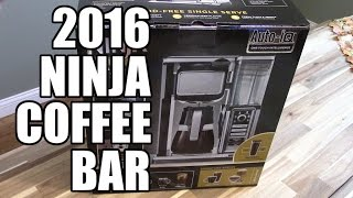 The New 2016 Ninja Coffee Bar is here!! This is a quick video showing what all is included in the box and I give a brief overview of the features.  Subscribe for more Ninja Coffee Bar videos.  Comparison video of the old vs new coming soon! Get the New Ninja Coffee Bar here:  http://amzn.to/2jNbKspGet the New Ninja Coffee Bar with tumbler and cookbook Here : http://amzn.to/2kuaAzcGet the old Ninja Coffee Bar Here. http://amzn.to/2j9lvMzBuy a Ninja Coffee Bar here: http://www.ninjakitchen.com/brewing/ninja-coffee-bar-system/Find Ninja Cooking system recipes here: http://EasyNinjaRecipes.comPLEASE SUBSCRIBE!!!http://www.youtube.com/subscription_center?add_user=im14pinballGet Cash Back when you shop online!http://www.ebates.com/rf.do?referrerid=IA2rxShzGMuEoUXkh%2FPF7g%3D%3D&eeid=28187We are a participant in the Amazon Services LLC Associates Program, an affiliate advertising program designed to provide a means for us to earn fees by linking to Amazon.com and affiliated sites.