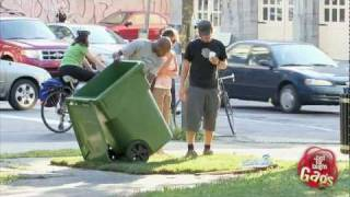 Man Disappears In Garbage Bin Prank