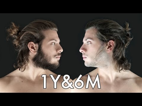 Hair Growth Time Lapse - 1 Year & 6 Months ● Bearded or Shaved?