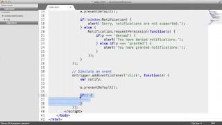 Desktop Notifications API