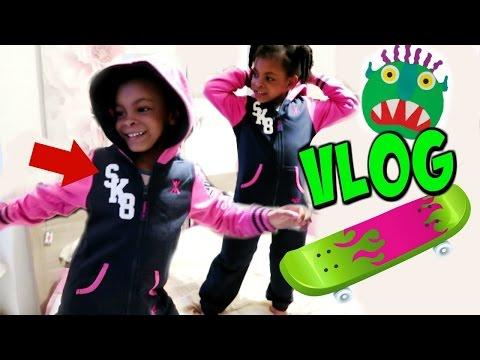 UNE FUTURE SKATEUSE et UN MONSTRE VERT - Vlog de maman