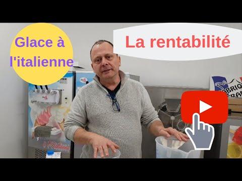 Machine a glace italienne de comptoir 2 parfums