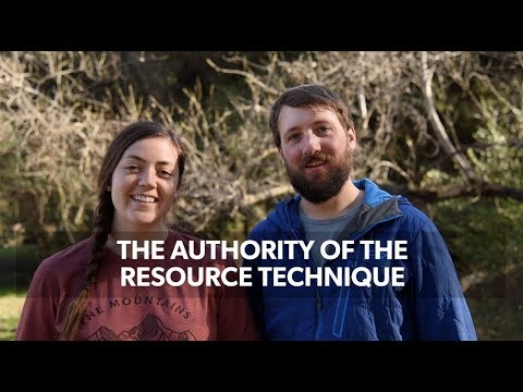 Authority of the Resource Technique: How to Communicate Leave No Trace