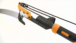 10. How to use the Fiskars® Power-Lever® Extendable Pole Saw & Pruner (7'–14')