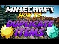 Minecraft: How to Duplicate All Items - 2014 [1.7.10]