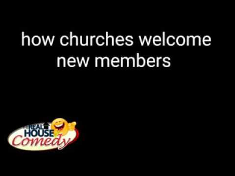 Different ways of how churches welcome new members (Nigerian Comedy)
