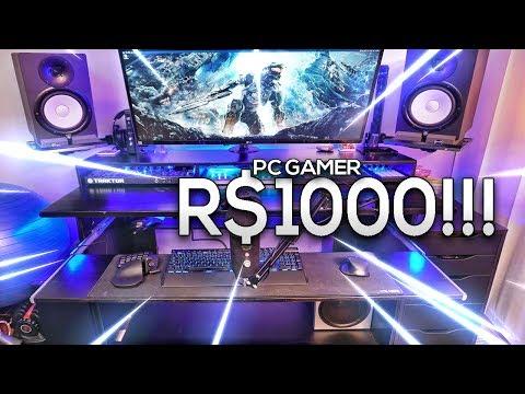 COMO MONTAR UM #PCGAMER MUITO BARATO!!! (R$ 1000) RODA TUDO!!!