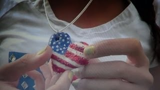 DIY American Flag Heart Necklace -HowToByJordan - YouTube
