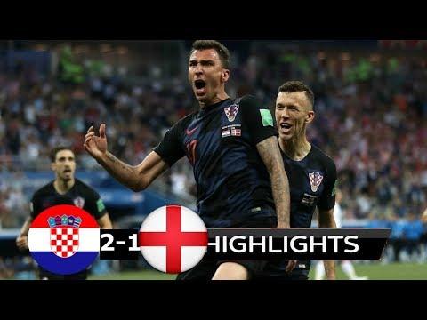 Croatia vs England 2 1  - Semi Final Goals & Highlights   11 07 2018 World Cup 2018 Russia