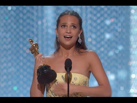 Alicia Vikander winning Best Supporting Actress