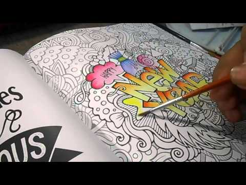 Happy New Year Mewarnai Coloring Book For Adult My Own World 2 Indonesia