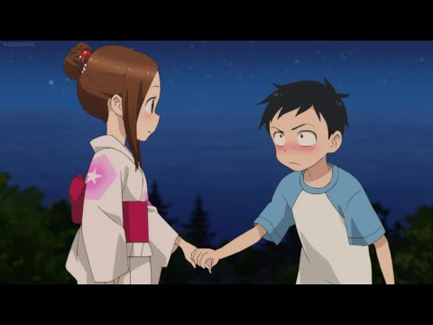 Nishikata and Takagi-San Hold Hands at the Summer Festival | Karakai Jouzu No Takagi-San 2 Ep 12 End