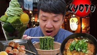 Video MATCHA(Green Tea) SOBA NOODLES! KYOTO Japan Food Tour MP3, 3GP, MP4, WEBM, AVI, FLV Juni 2019