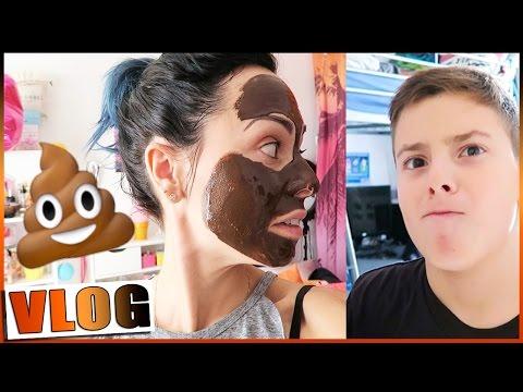 HALLOWEEN : Masque au chocolat ou masque 💩 pour Loulou / VLOGTOBER