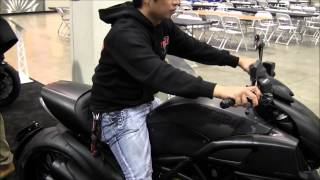 10. 2013 Ducati Diavel Walk Around Sport Cruiser Motorcycle Canon Vixia HF M40 Video Test